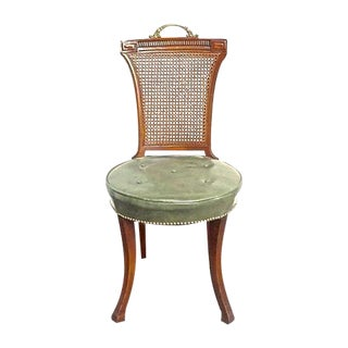 Regency Style Wood And Caned Side Chair