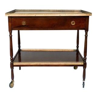 Antique Traditional Dark Wood Bar Cart