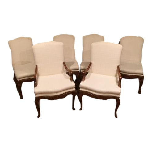 Baker French Country Dining Chairs - Set of 6 - Image 1 of 6