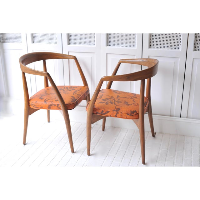 Lawrence Peabody Walnut Chairs - Set of 4 - Image 11 of 11