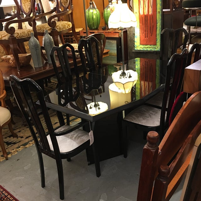 Black Lacquered Dining Set - Image 4 of 6