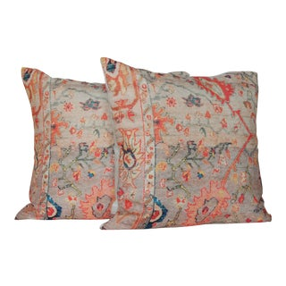 Vintage Multi-Colored Oriental Pillow Covers – a Pair-16''