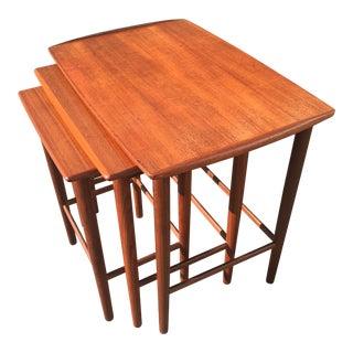 Vintage Danish Mid-Century Modern Teak Nesting Tables