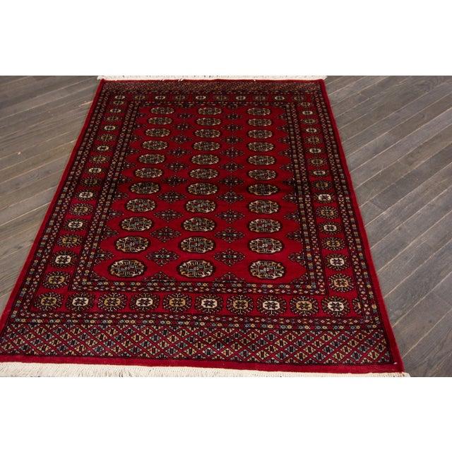 "Bokara Red Wool Rug- 4'2"" x 5'7"" - Image 2 of 3"