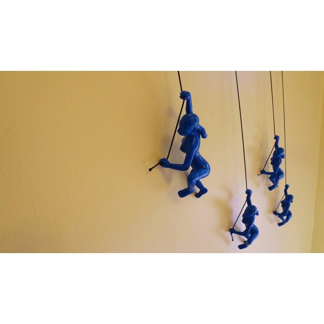 Blue Climbing Girl Wall Art - Image 4 of 8
