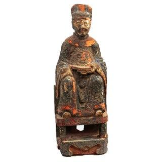 Antique Chinese Emperor Statue