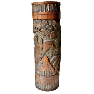 Antique Japanese Carved Pot