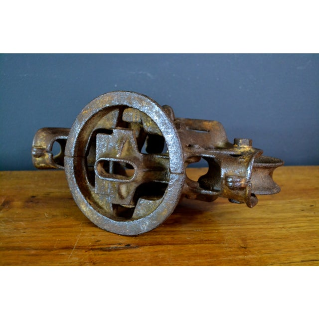 Vintage Industrial Hay Trolley, Double Pulley - Image 6 of 8