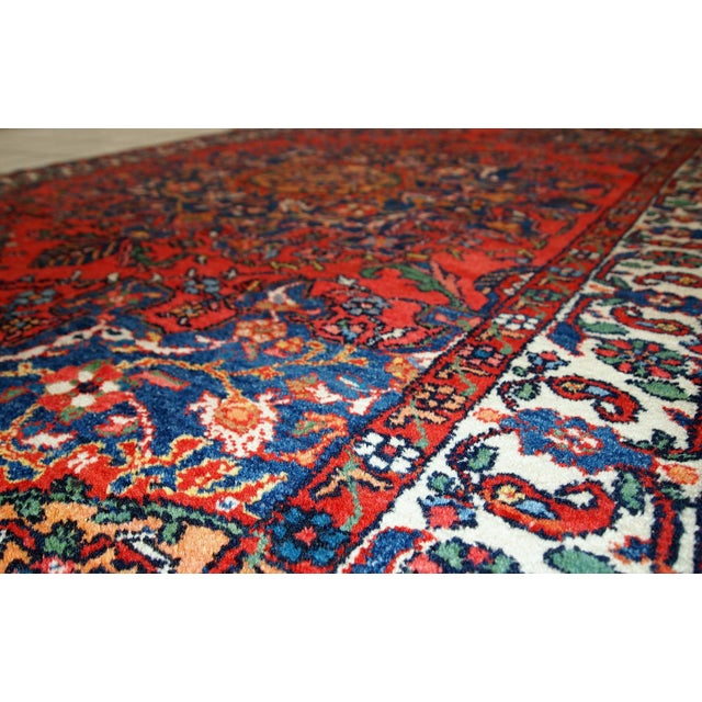 1970s Hand Made Vintage Persian Mashad Rug - 4′7″ × 6′4″ - Image 3 of 10