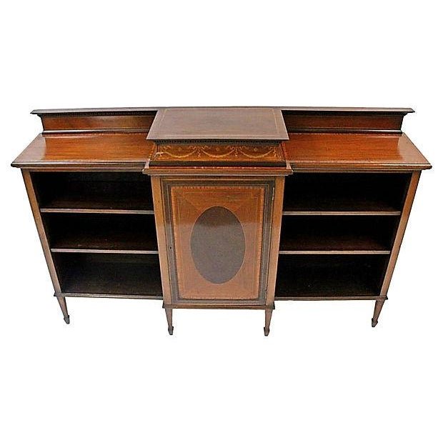 Image of Antique American Federal Inlaid Bookcase