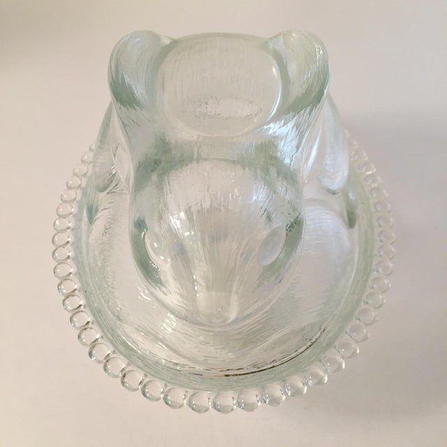 Vintage Candlewick Style Glass Bunny Dish - Image 2 of 4