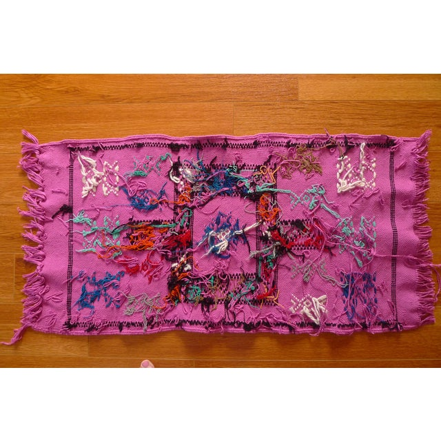 MoroccanTribal Motif Small Pink Rug - 1′6″ × 3′ - Image 6 of 8
