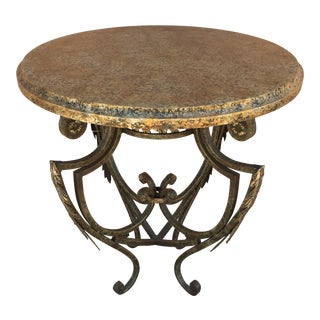 Antique Faux Granite Occasional Table