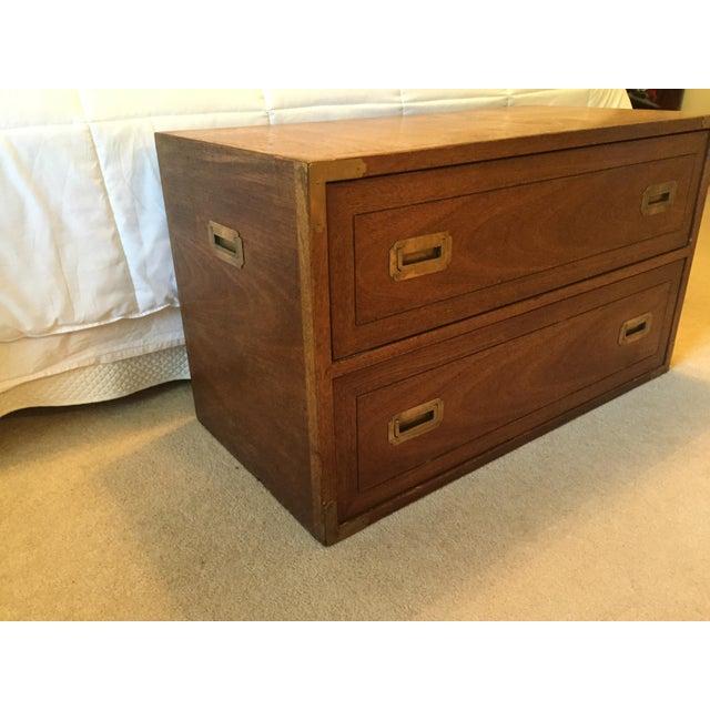 Drexel Wood Campaign Dresser - Image 3 of 7