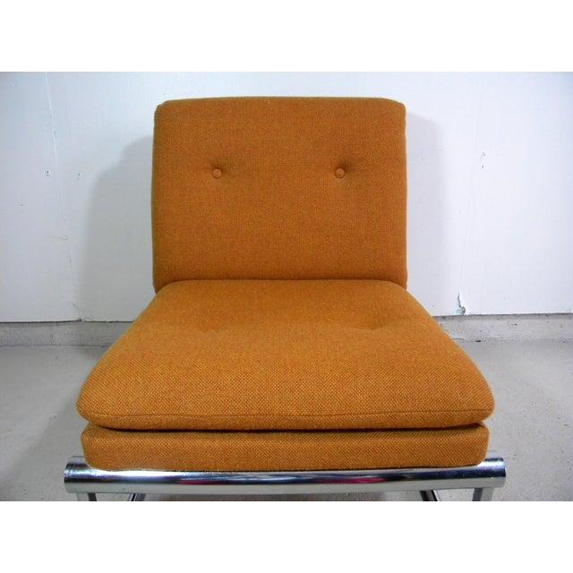 Mid Century Armless Chrome Chair - Image 3 of 6