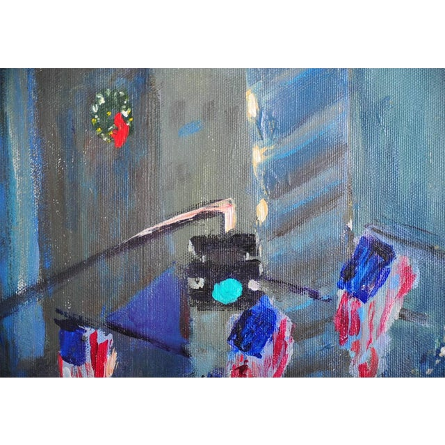 """""""Downtown Manhattan 4th July,"""" Oil Painting - Image 6 of 10"""