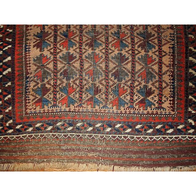 "Antique Turkoman Prayer Baluch Rug - 2'10"" X 5'3"""