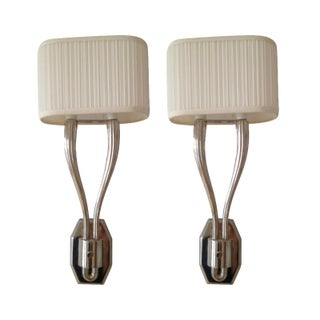 Pair of Louis Baldinger & Sons Double Wall Sconces