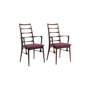 "Pair of Rosewood ""Lis"" Dining Armchairs by Niels Koefoed for Koefoed Hornslet"