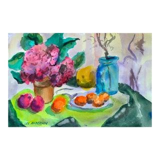 Still Life Fruit & Flowers Painting