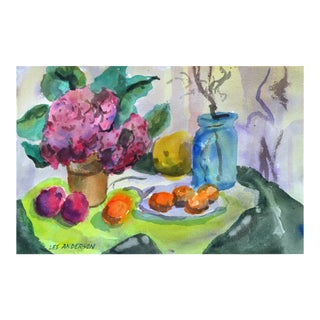 Still Life Fruit & Flowers Painting