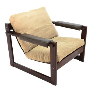 Percival Lafer Rosewood Sling Lounge Chair