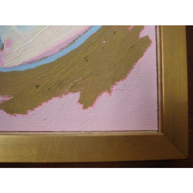 "Jose Ramon Lerma 1977 ""Pink Abstract""Painting - Image 4 of 5"