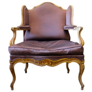 French Regence Style Painted and Parcel Gilt Fauteuil de Confessionnal