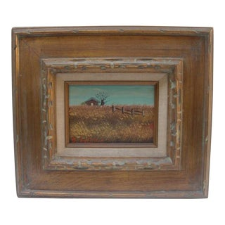 'Farmhouse in Wheat Fields' Painting