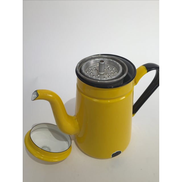 Image of Vintage Yellow Tea Pot