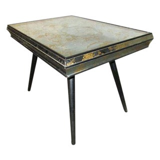 Paul McCobb Style Mid-Century Side End Accent Mirrored Side Table