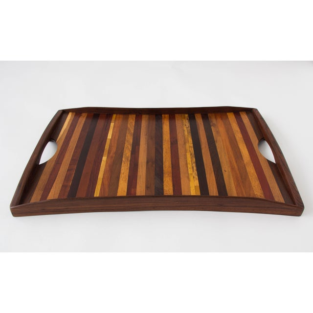 Don Shoemaker for Señal Rosewood Handled Tray - Image 4 of 10