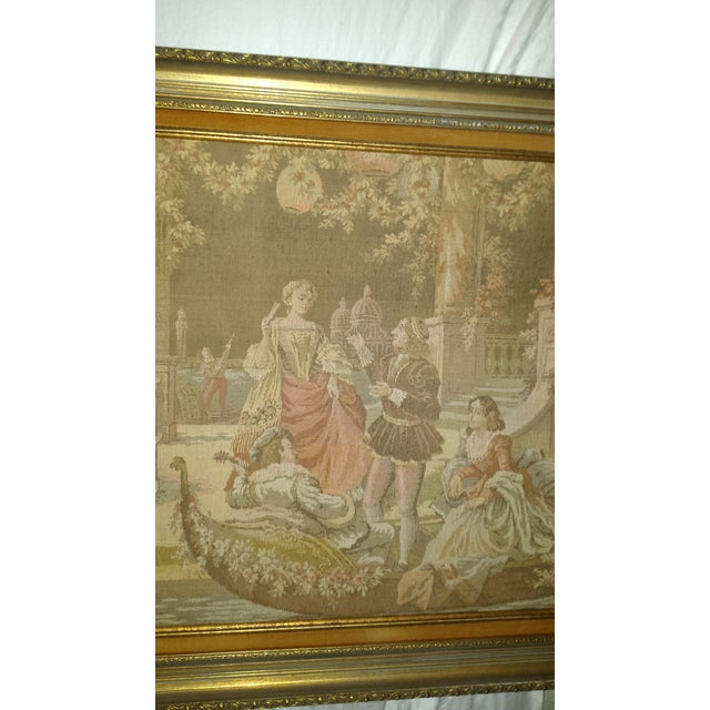 Antique Very Large Framed French Tapestry - Image 5 of 7
