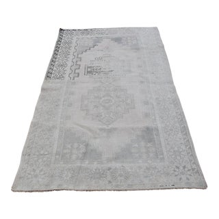 Turkish Faded Anatolian Hand-Knotted Area Rug - 3′10″ × 6′7″