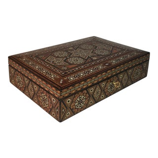 Antique Moroccan Inlaid Wood Box