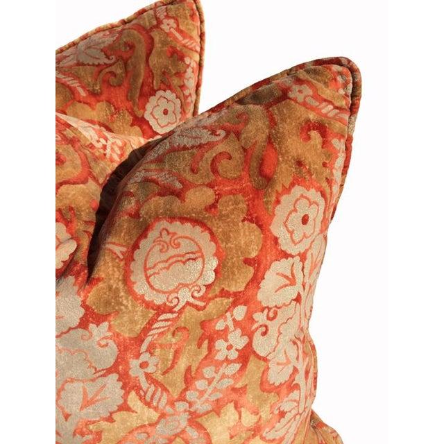 Designer Damask Velvet Pillows - Image 4 of 6