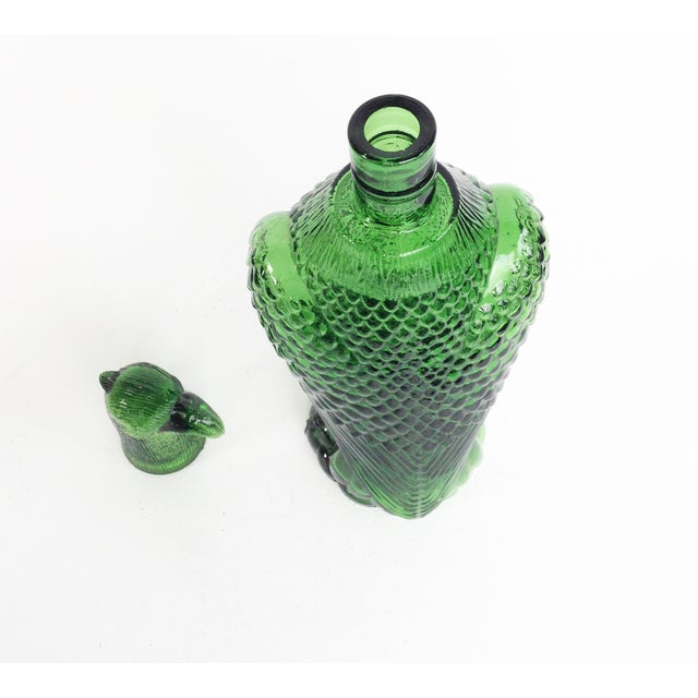 Vintage Green Glass Eagle Decanter - Image 6 of 6