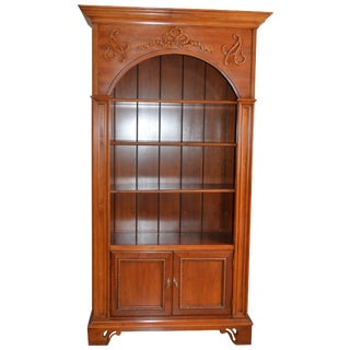 French Country Cherry Wood Bookcase