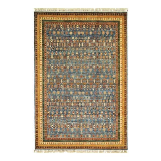 "Traditional Tribal Floral Area Rug - 6'9"" X 10'0"""