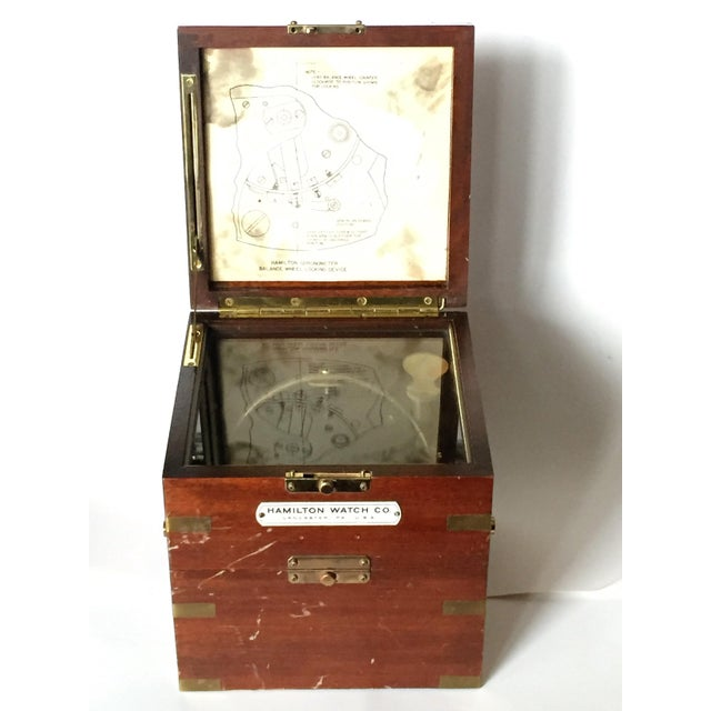 Vintage Marine Hamilton Chronometer Case - Image 3 of 9