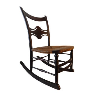 Beautiful Old Armless Rocking Chair