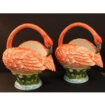 Image of Vintage Palm Beach Flamingo Planters - A Pair