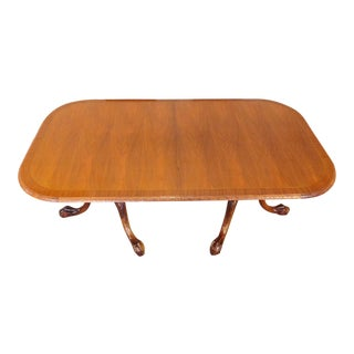 Chippendale Mahogany Banded Dining Room Table