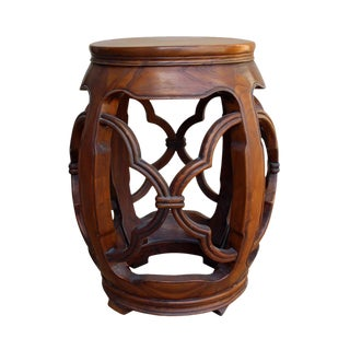 Chinese Wood Drum Stool