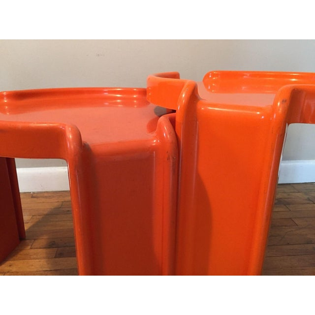 Kartell Orange Stacking Tables - A Pair - Image 3 of 6