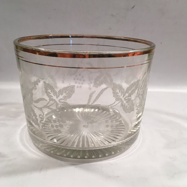Vintage Grapevine Glass Ice Bucket - Image 3 of 6