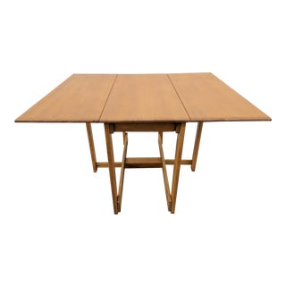 Mid-Century Modern Conant Ball Solid Maple Drop Leaf Table