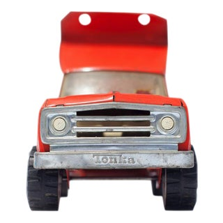 "Orange Vintage Dump Truck ""To the Right"" Photography"