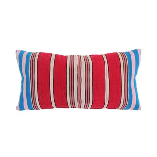Vintage Striped Yoruba Nigerian Lumbar Pillow