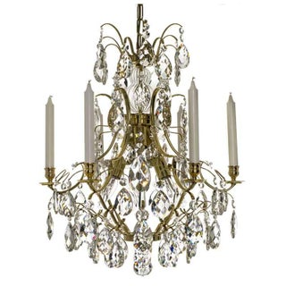Baroque Chandelier - 6-Candle Brass